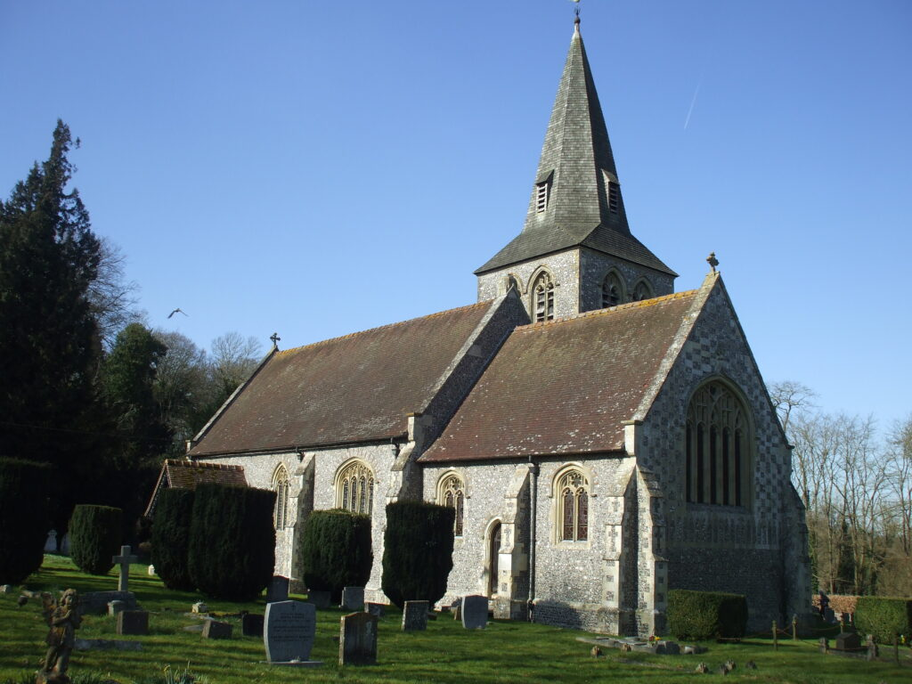 A picture of the Church of All Saints in East Stratton